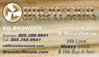 Business cards eyeshot design browder metals recycling business card knoxville tn colourmoves Images