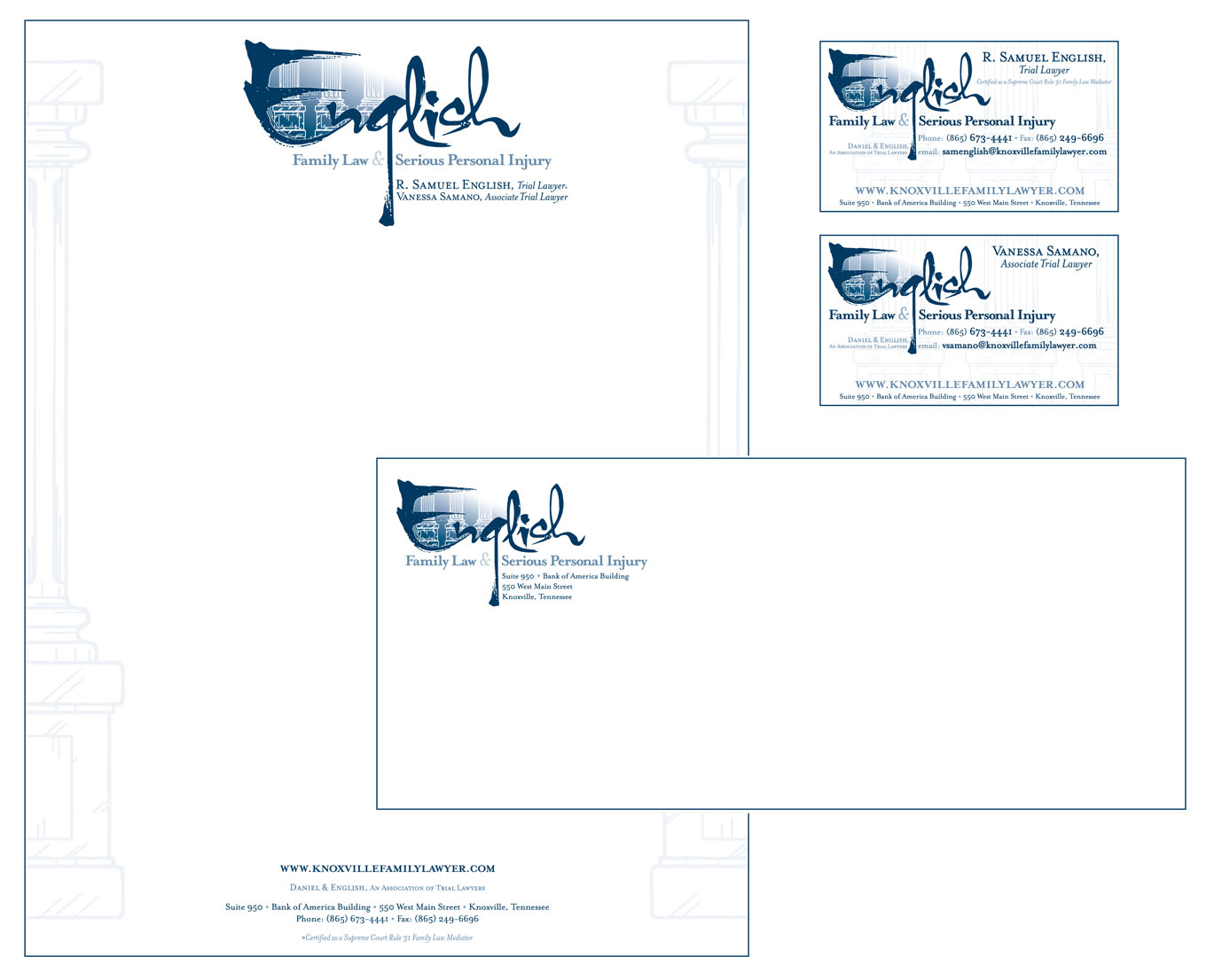 the english law firm letterhead package knoxville lawyer business card