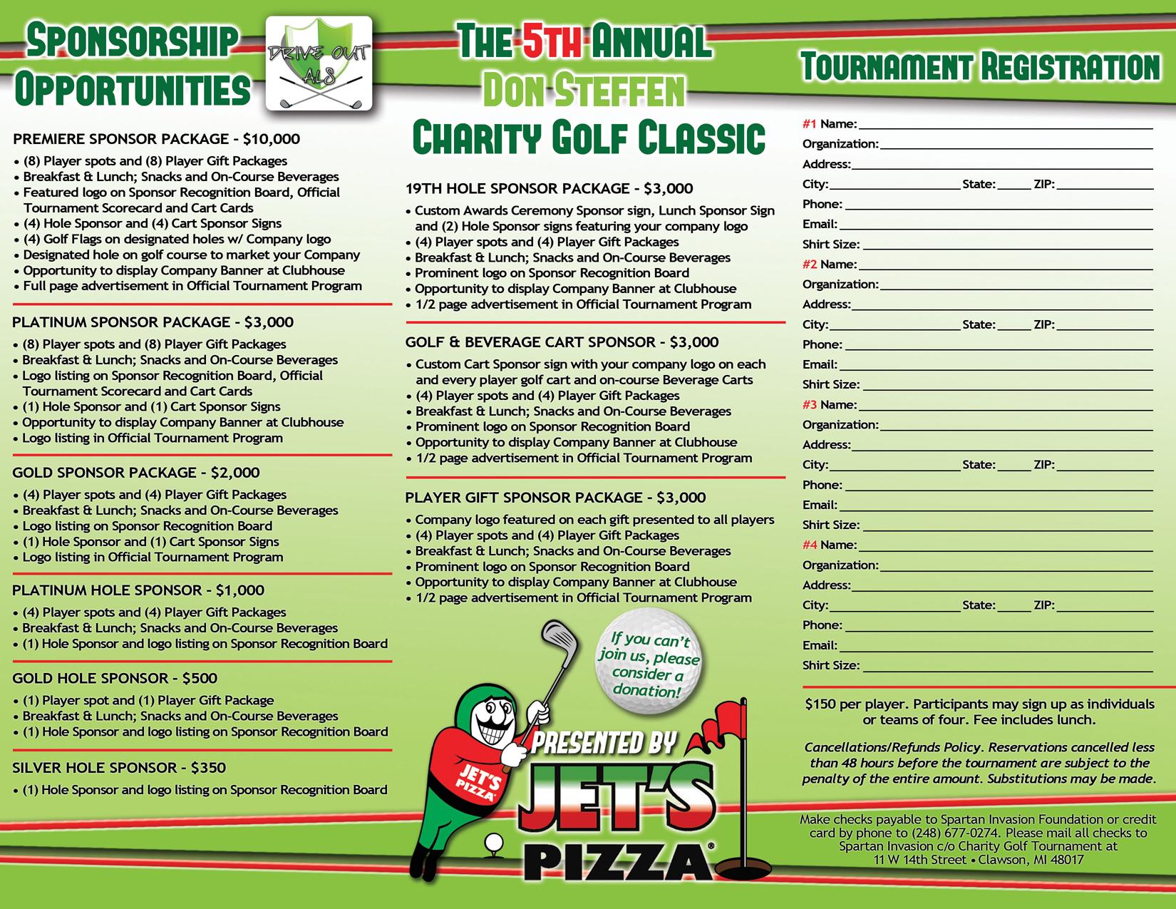 Brochures » Jetu0027s Pizza Golf Tournament Brochure