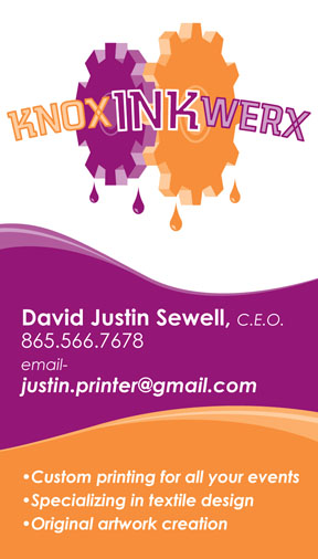Business cards eyeshot design knox ink werx t shirt printing tn business card reheart Gallery