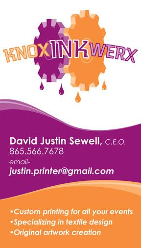 Business cards eyeshot design knox ink werx t shirt printing tn business card colourmoves Images